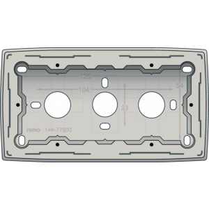 Opbouwdoos Tweevoudig L,Grey Light Grey 102-77500