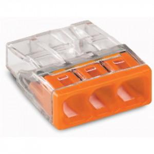 Steekklem 3x0,5-2,5mm Wago oranje