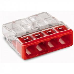 Steekklem 4x0,5-2,5mm Wago rood