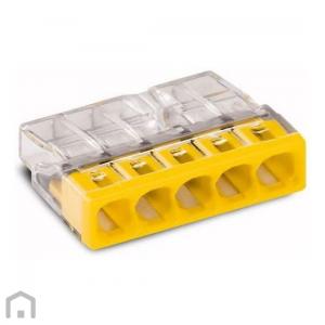 Steekklem 5x0,5-2,5mm Wago geel