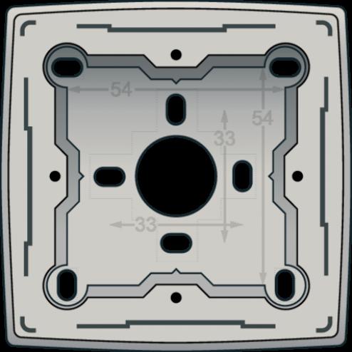 102-77100-Opbouwdoos L,Grey Light Grey 102-77100-Niko