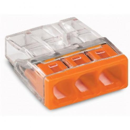 2273-203-Steekklem 3x0,5-2,5mm Wago oranje -Wago