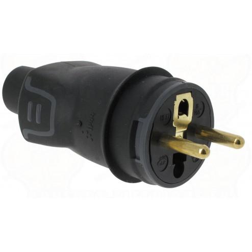 50445-Stekker M rubber 2P+A 16A-Legrand