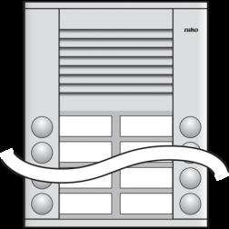 Audio Deurst 2X5 drukknop  10-110