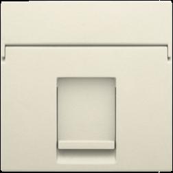Centraalplaat Data 1x RJ Creme 100-65100