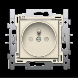 Stopcontact set 21mm Creme 100-66100