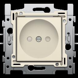 Stopcontact set zonder aarding 21mm Creme 100-66500