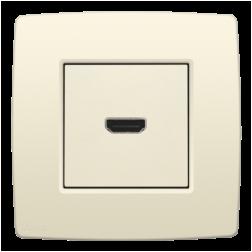 Afwerking HDMI-HDMI Creme 100-69417