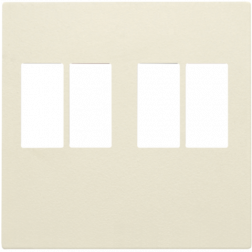 Centraalplaat 2-voudig luidspreker Creme 100-69701