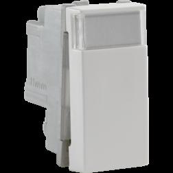Drukknop No/Ng 22,5X45 White 101-09010