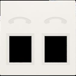 Centraalplaat 2x RJ11 Tel White 101-69031