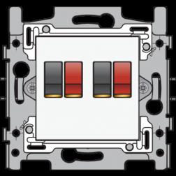 Aansl 2Xspringconnector White 101-69700
