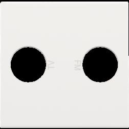 Centraalplaat TV/FM White 101-69702