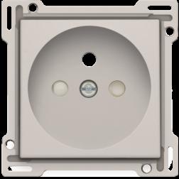 Centraalplaat Stopcontact 28,5mm Light Grey 102-66601