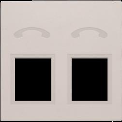 Centraalplaat 2x RJ11 Tel Light Grey 102-69031