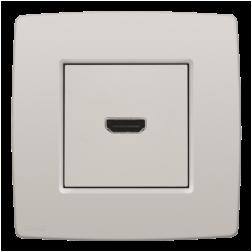 Afwerking HDMI-HDMI Light Grey 102-69417