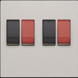 Centraalplaat 2-voudig luidspreker Light Grey 102-69701