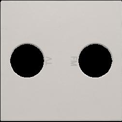 Centraalplaat TV/FM Light Grey 102-69702