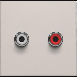 Afwerkset 2 x Cinch Light Grey 102-69716