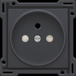 Centraalplaat stopcontact 21mm Athracite 122-66101