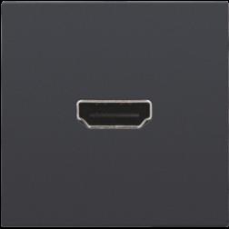 Afwerkset HDMI Schroef Athracite 122-69416