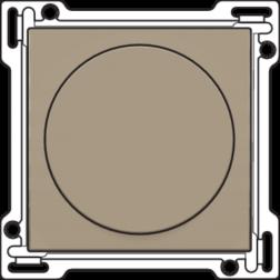 Afwerkingsset Draaiknopdimmer Bronze 123-31000