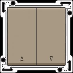 Knoppen Tweevoudige Rolluikschakelaar Bronze 123-65914