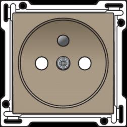 Centraalplaat Stopcontact 28,5mm Bronze 123-66601