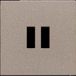 Centraalplaat USB-lader Bronze 123-68001