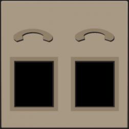 Centraalplaat 2x RJ11 Tel Bronze 123-69031