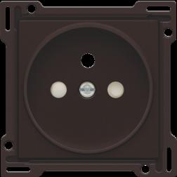 Centraalplaat stopcontact 21mm Dark Brown 124-66101