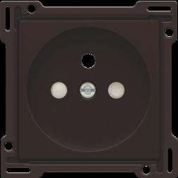 Centraalplaat Stopcontact 28,5mm Dark Brown 124-66601