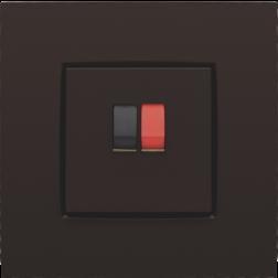 Centraalplaat luidspreker Dark Brown 124-69801