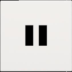 Centraalplaat USB-lader White Coated 154-68001