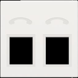 Centraalplaat 2x RJ11 Tel White Coated 154-69031
