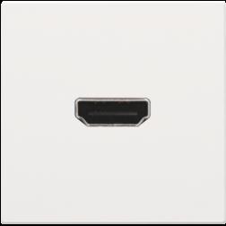 Afwerkset HDMI Schroef White Coated 154-69416