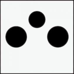 Centraalplaat TV/FM/Satelliet White Coated 154-69551