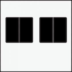 Centraalplaat 2-voudig luidspreker White Coated 154-69701