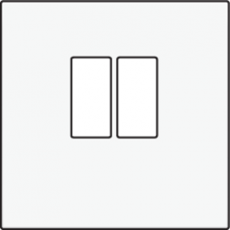 Centraalplaat luidspreker White Coated 154-69801