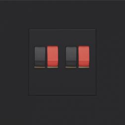 Centraalplaat 2-voudig luidspreker Black Coated 161-69701