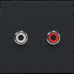 Afwerkset 2 x Cinch Black Coated 161-69716