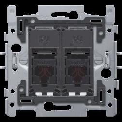 Inbouwraam 2 x RJ11 UTP klauw  170-65114