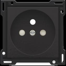 Centraalplaat Stopcontact 28,5mm Piano Black Coated 200-66601