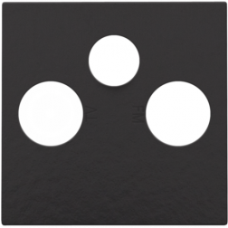 Centraalplaat TV/FM/Satelliet Piano Black Coated 200-69551