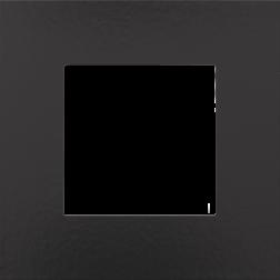 Afdekplaat Piano Black Coated 200-76100