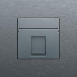 Centraalplaat Data 1x RJ Alu Grey Coated 220-65100