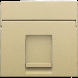 Centraalplaat Data 1x RJ Alu Gold Coated 221-65100