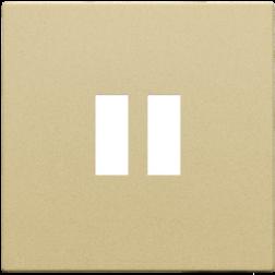 Centraalplaat USB-lader Alu Gold Coated 221-68001