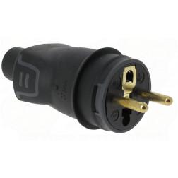 Stekker M rubber 2P+A 16A