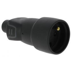 Stekker FM rubber 2P+A 16A